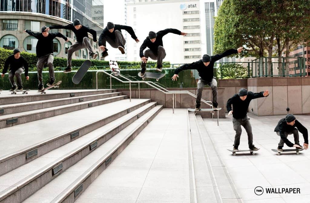 Heel-flip trick