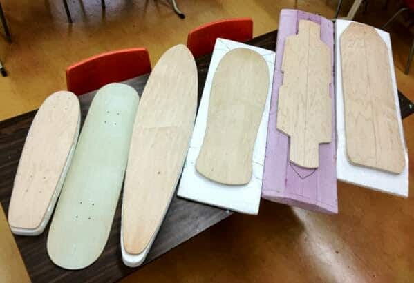 Shaping the skateboard