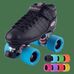 Riedell Black R3 Demon EDM Roller Derby Speed