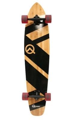 Quest QT-NSC44C The Super Cruiser The Original Artisan Bamboo and Maple 44 Longboard Skateboard