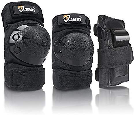 JBM Adult Child Knee Pads Elbow Pads Wrist Guards 3 In 1 Protective Gear Set