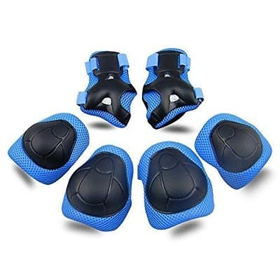 Kids Protective Gear SKL Knee Pads for Kids Knee and Elbow Pads with Wrist Guards