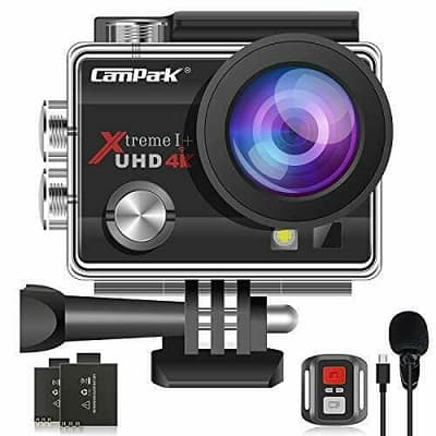 Campark 4K 20MP Action Camera EIS External Microphone Remote Control