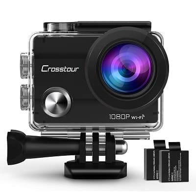 Crosstour Action Camera 1080P Full HD Wi-Fi 14MP PC Webcam Waterproof