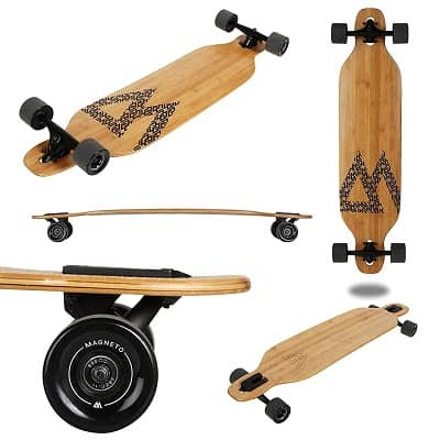 Magneto Bamboo Longboards for Cruising, Carving, Free-Style, Downhill and Dancing